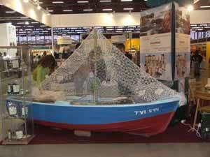 barca en el stand de Algamar, Bioculturra 2008