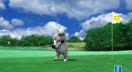 El Oso polar Bernard se va jugar al golf