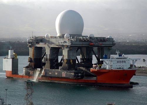 Blue Marlin transporta estación de radar