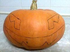 calabaza de halloween, bosquejo