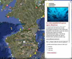 Google Ocean, capa National Geographic