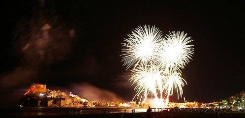Fiestas Peñíscola, castillo de fuegos