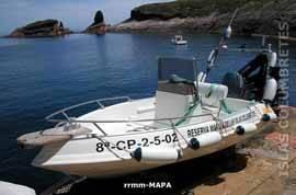 Islas Columbretes, embarcación reservas marinas