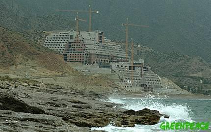 Foto Greenpeace: construccion salvaje en la costa española