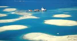 barco dragando, islas aritificiales Dubai