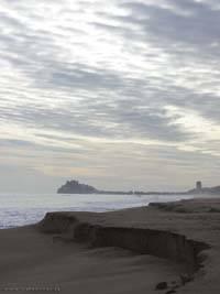 erosion playa norte de Peñíscola