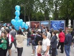 Exposición Agua, paseo carruajes, Parque del Retiro, Madrid