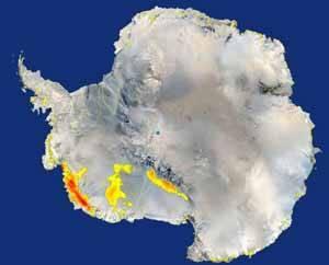 imagen de la Antártida, operación Ice Bridge