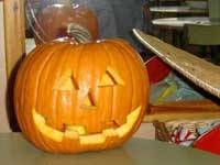 calabaza para Halloween, poner vela dentro