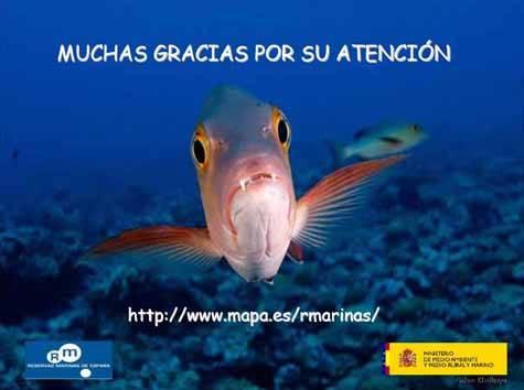 cartel reservas marinas