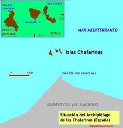 Mapa de las Islas Chafarinas