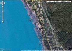 Vista de Chittagong por satélite de Google Maps