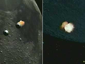 impacto sondas en la Luna