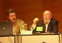 Ferran Montesa y Juan López Uralde presentación Atlas del Medio Ambiente