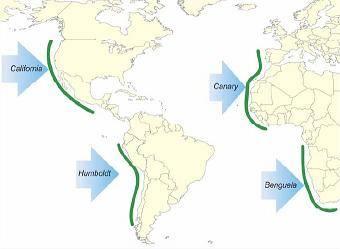 mapa afloramientos costeros