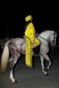 Peñíscola Fiestas, moro a caballo
