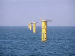 Soportes de las turbinas eólicas sumergidos