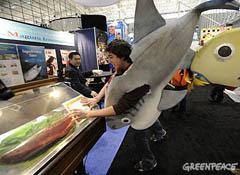 Campaña Greenpeace para un consumo responsable de pescado