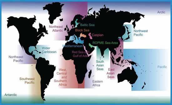 18 áreas marinas analizadas en el informe del PNUMA