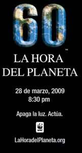 60 minutos, la hora del planeta