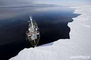 El Artic Sunrise en Groenlandia