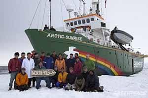 Equipo científico del Artic Sunrise en Groenlandia