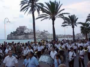 banda de música en fiestas de Peñíscola