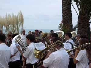 banda de música e las fiestas de Peñíscola