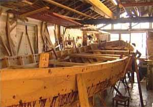 barco ballenero en construcción