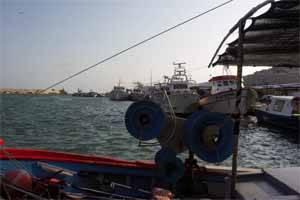 barcos pesqueros en el puerto de Peñíscola