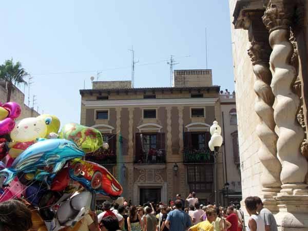 Benicarló cohete inauguración Fiestas 2009 desde ayuntamiento