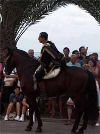 caballero en desfile de moros y cristianos, Peñíscola