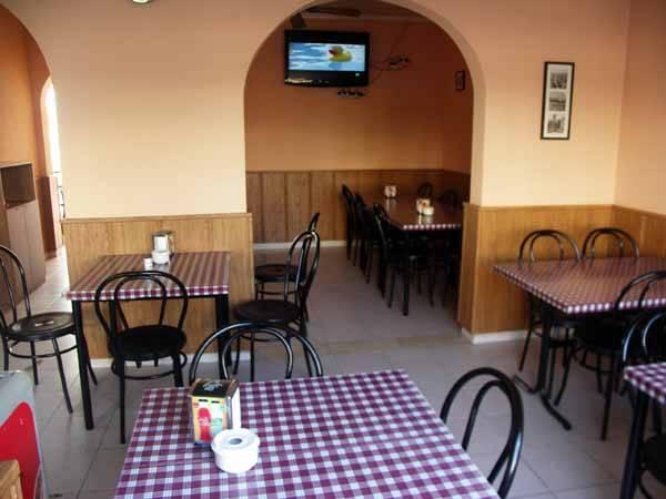 café bar Maritim, vista del comedor