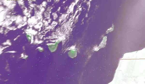 Islas Canarias, vista satélite