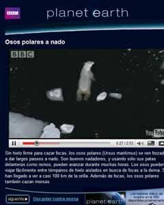 Google Ocean, Tierra de la BBC