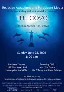 cartel del documental the cove