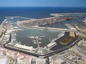 Vista aerea del circuito de F1 de Valencia