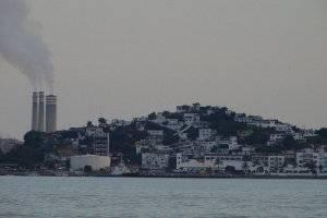 Emisiones de humos en la costa