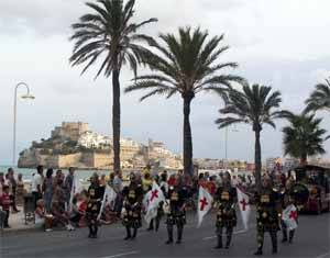 desfile de moros y cristianos, Peñíscola