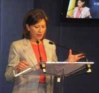 Elena Espinosa en Bruselas