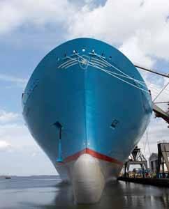 Emma Maersk, vista proa