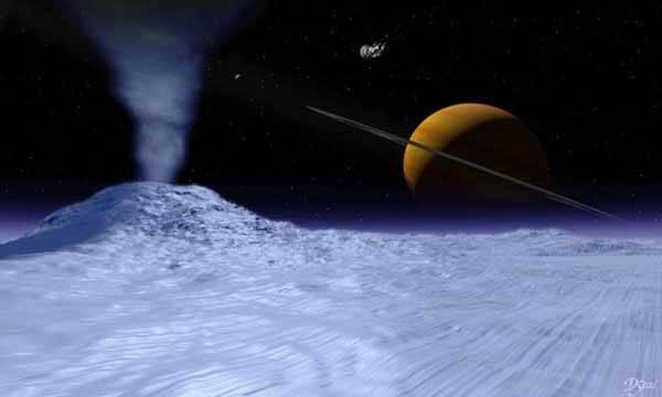 Encelado, luna de Saturno