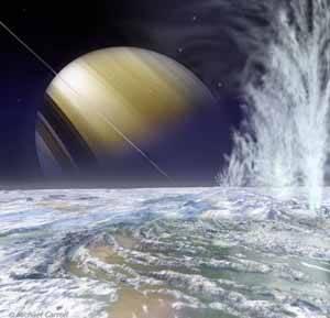 Enceladus, luna de Saturno