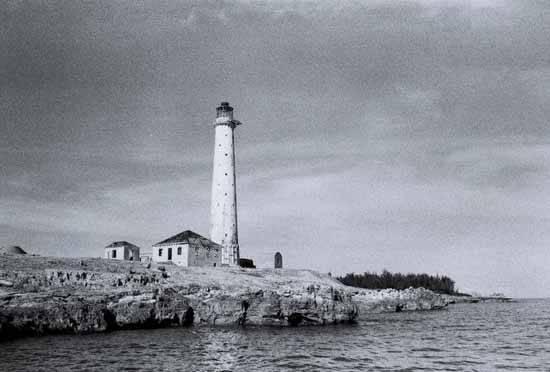 faro fantasma islas Bimini, Bahamas - imagen antigua