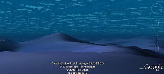 Google Earth fondo oceano