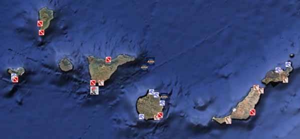 google earth ocean, Islas Canarias