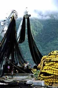 grandes redes de pesca