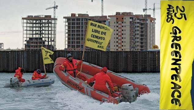 greenpeace en el Mar Menor, 25 aniversario