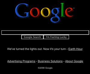 La hora del planeta, google