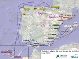 mapa  de la ruta del Vell Marí, 2009